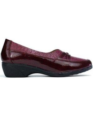 Confort  Women's Low Heel Comfort Slip On Shoe Red  women's Shoes (Pumps / Ballerinas) in Red