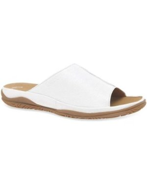 Gabor  Idol Leather Wide Fit Casual Womens Mules  women's Mules / Casual Shoes in White