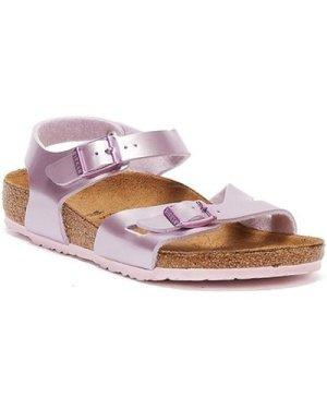Birkenstock  Rio Birko Flor Electric Metallic Kids Lilac Sandals  girls's Children's Sandals in Purple