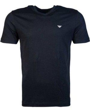 Armani  8N1D621JPZZ_0999black  men's T shirt in Black
