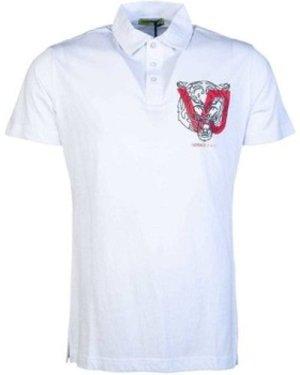 Versace  B3GSA7P936610_003white  men's Polo shirt in White