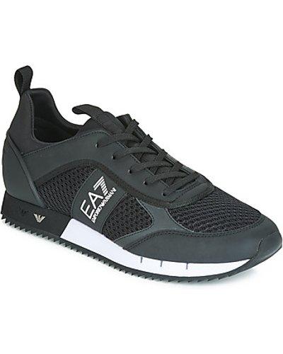 Emporio Armani EA7  LACES U  men's Shoes (Trainers) in Black