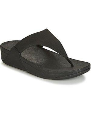 FitFlop  LULU SHIMMERLUX  women's Flip flops / Sandals (Shoes) in Black