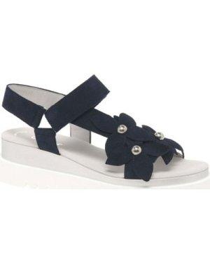 Gabor  Bryce Flower Trim Womens Sandals  women's Sandals in Blue