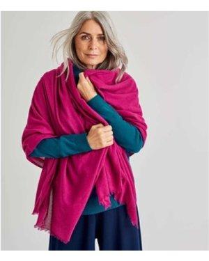Woolovers  Woven Wool Scarf  women's Scarf in Purple