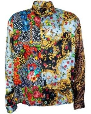 Versace  B1GUA621S0527_899black  men's Long sleeved Shirt in Black