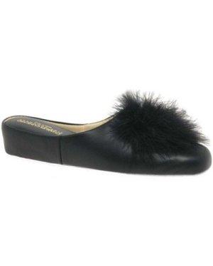 Relax Slippers  Pom-Pom II Leather Slipper  women's Clogs (Shoes) in Black