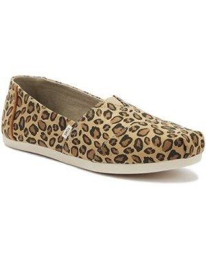 Toms  Classic Womens Leopard Print Espadrilles  women's Espadrilles / Casual Shoes in Brown