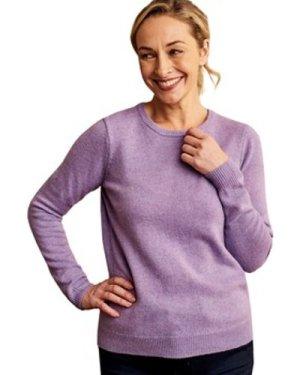 Woolovers  Lambswool Crew Neck Jumper  women's Sweater in Purple