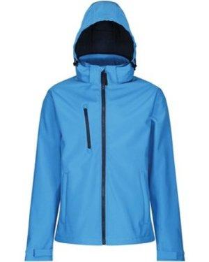 Professional  Venturer 3 Layer Printable Hooded Softshell Jacket Blue  men's Jacket in Blue