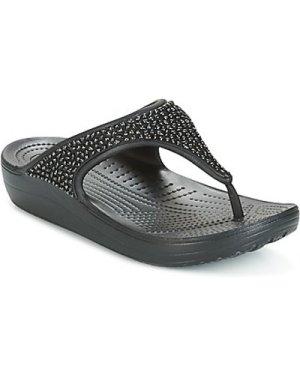 Crocs  SLOANE  women's Flip flops / Sandals (Shoes) in Black