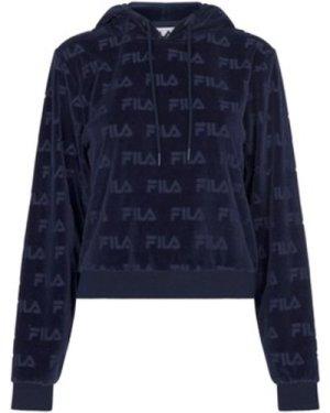 Fila  Abha All Over Burnout Logo Hoodie  women's Sweatshirt in Blue