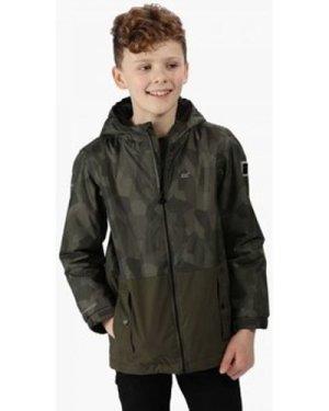Regatta  Selwyn Printed Waterproof Jacket Green  boys's Children's jacket in Green