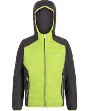 Regatta  Kielder IV Lightweight Hooded Hybrid Walking Jacket Yellow  girls's Children's fleece jacket in Yellow