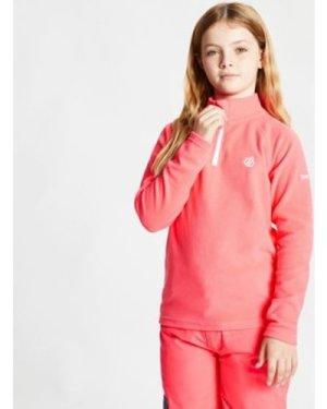 Dare 2b  Freehand Half Zip Lightweight Fleece Pink  boys's Children's fleece jacket in Pink