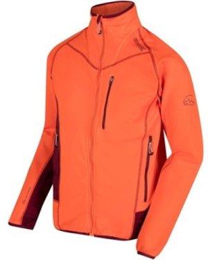 Regatta  Diego III Knitted Stretch Softshell Midlayer Orange  men's Fleece jacket in Orange