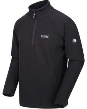 Regatta  Kenger Half Zip Mid Weight Honeycomb Fleece Grey  men's Fleece jacket in Grey