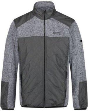 Regatta  Zavid Quilted Full Zip Fleece Grey  men's Fleece jacket in Grey