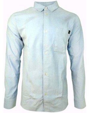 Edwin  Minimal Shirt LS Baby Cord  men's Long sleeved Shirt in Blue