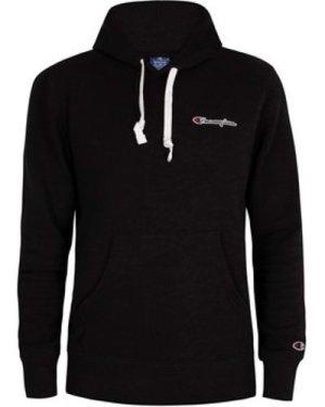Champion  Chest Logo Pullover Hoodie  men's Sweatshirt in Black