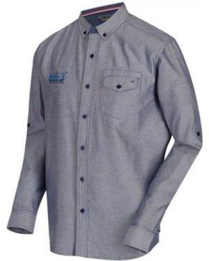 Regatta  Benan Long Sleeve Coolweave Oxford Shirt Blue  men's Long sleeved Shirt in Blue