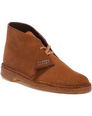 Clarks  Desert Trek Suede Mens Cola Boots  men's Mid Boots in Brown