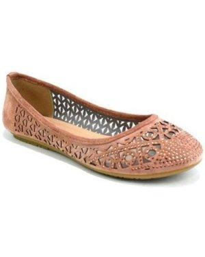 Reveal Love Your Look  Ladies Flat Diamante Ballerina  women's Shoes (Pumps / Ballerinas) in Pink