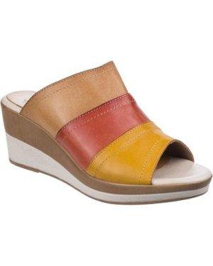 Riva Di Mare  Santo Multi Leather  women's Mules / Casual Shoes in Brown