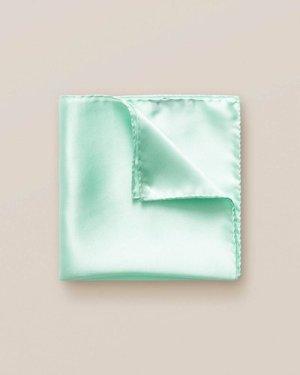 Mint silk pocket square