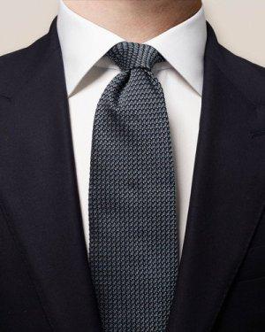 Blue Melange Silk Tie