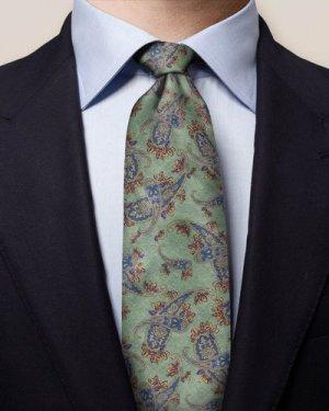 Green Paisley Tie