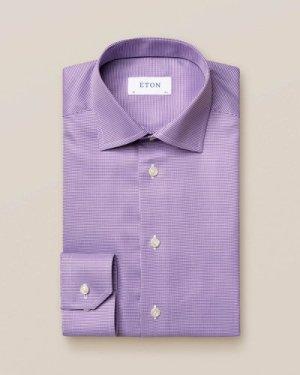 Light Purple Patterned Twill Shirt
