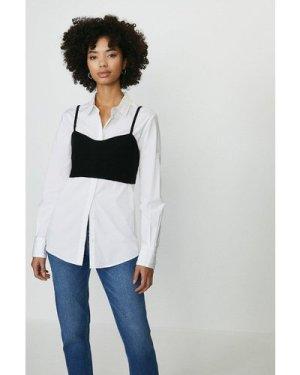 Coast Knitted Cami Bralet -, Black