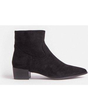 Coast Suedette Ankle Boots -, Black
