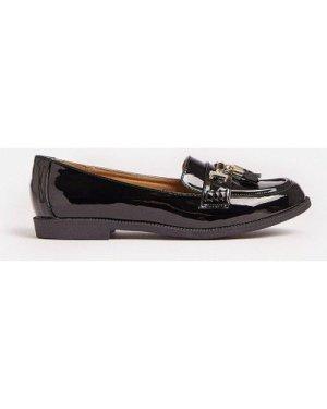 Coast Patent Tassel Loafer -, Black