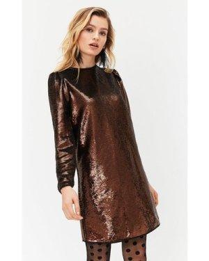 Coast Sequin Dress -, Bronze