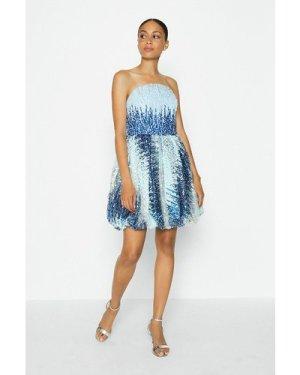 Coast Sequin Bandeau Puffball Dress -, Blue