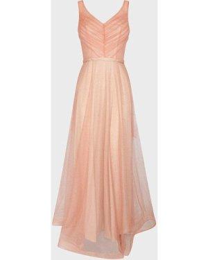 Coast Deep V Neck Glitter Maxi Dress -, Pink
