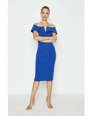 Coast Scuba Bardot Shift Dress -, Blue
