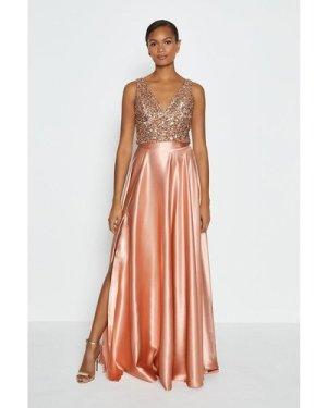 Coast Satin Maxi Skirt -, Pink