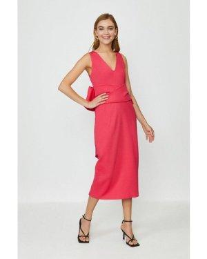 Coast Bow Back Dress -, Pink