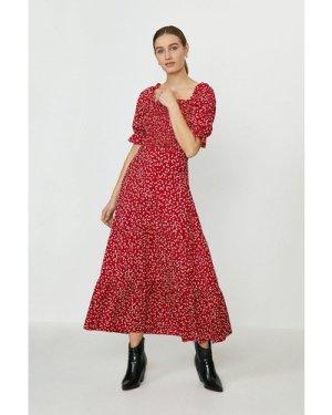 Coast ShirBodice Puff Sleeve Maxi Dress -, Red