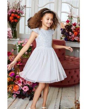 Coast Girls Sequin Bodice Bridesmaids Dress -, Silver