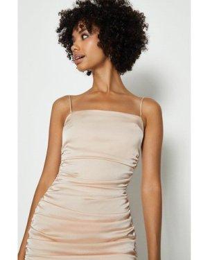 Coast Satin Ruched Cami Mini Dress -, Pink