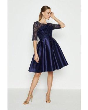Coast Lace Bodice Full Skirt Dress -, Navy