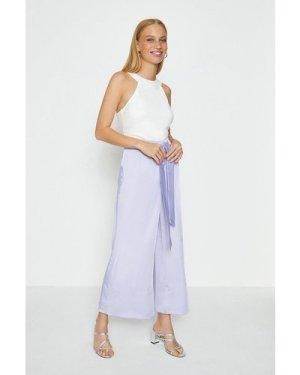 Coast Tie Belt Wide Leg Trousers -, Lilac