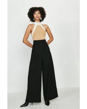 Coast High Waist Body Form Trousers -, Black