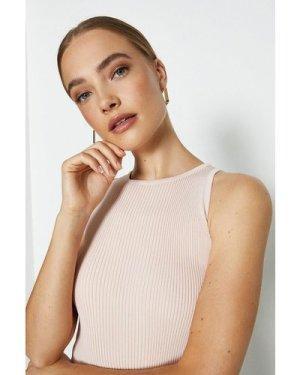 Coast Knitted Rib Cut Away Vest Top -, Pink
