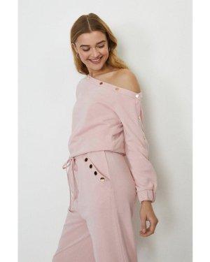 Coast Popper Bardot Top -, Pink