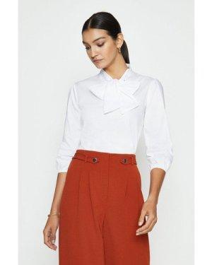 Coast Pussybow Shirt -, White